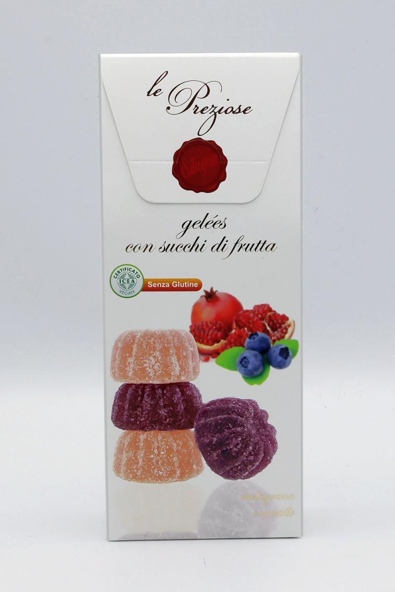 Italienisches Fruchtgelee Blaubeeren