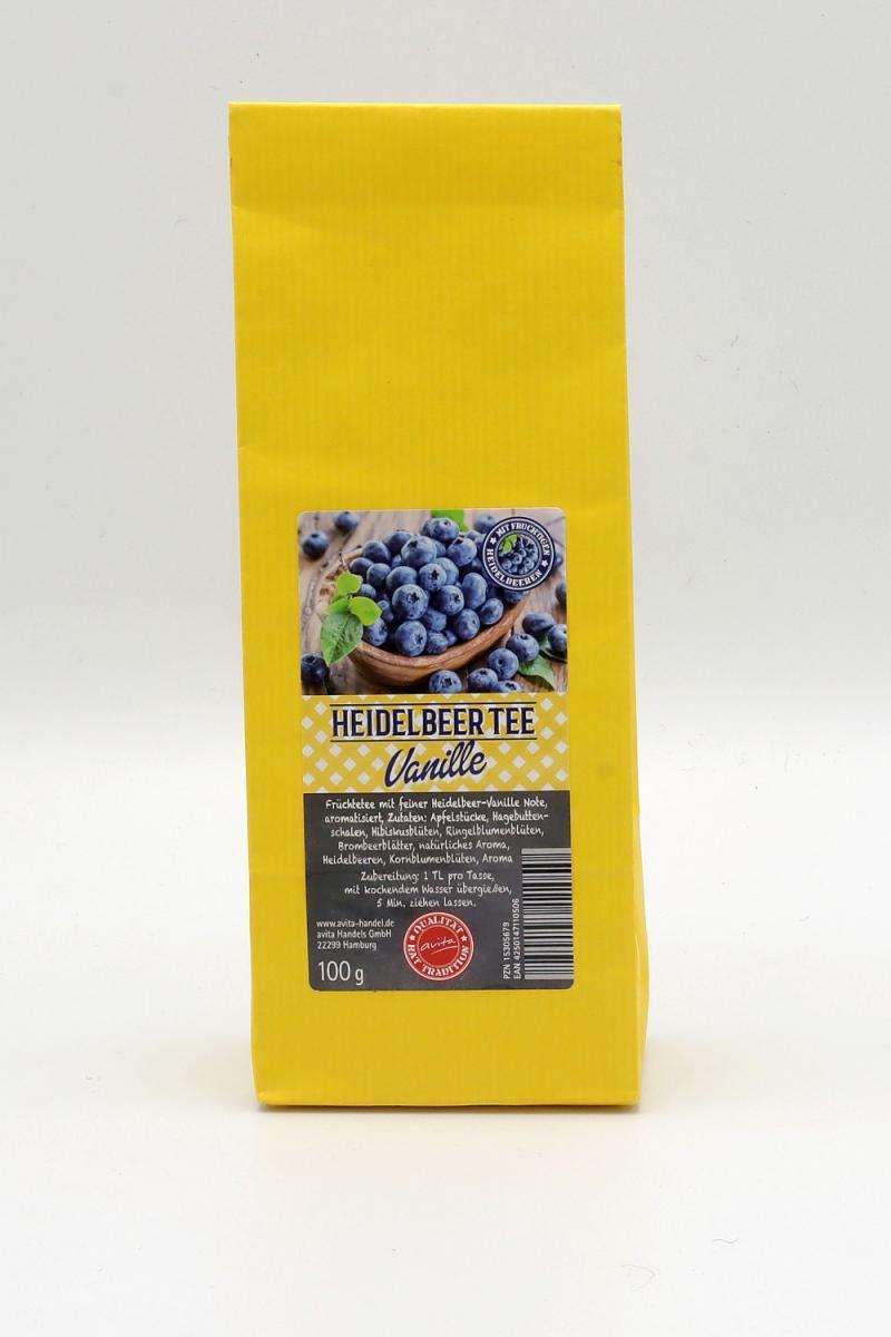 Heidelbeer-Tee Vanille (aromatisiert), 100g