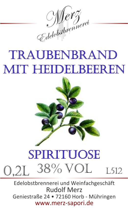 Traubenbrand (Grappa), 200ml