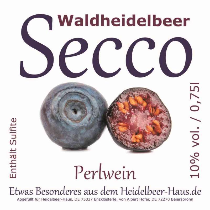 Exklusiver Waldheidelbeer-Secco, 0,75l