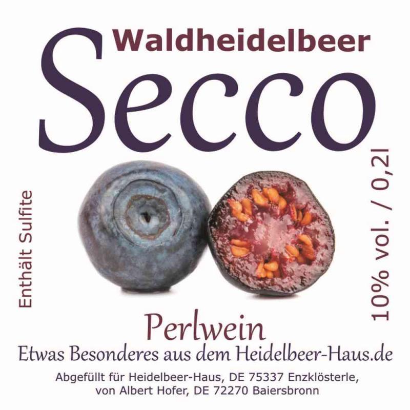 Exklusiver Waldheidelbeer-Secco, 0,2l